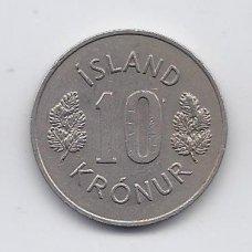 ISLANDIJA 10 KRONUR 1974 KM # 15 VF