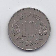 ISLANDIJA 10 KRONUR 1975 KM # 15 XF
