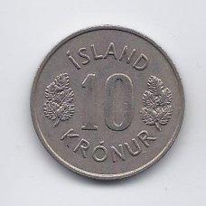 ISLANDIJA 10 KRONUR 1976 KM # 15 VF/XF