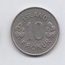ISLANDIJA 10 KRONUR 1977 KM # 15 XF