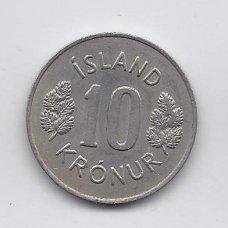 ISLANDIJA 10 KRONUR 1978 KM # 15 XF