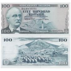 ISLANDIJA 100 KRONUR 1961 P # 44 AU