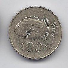 ISLANDIJA 100 KRONUR 1995 KM # 35 VF