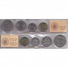 ISLANDIJA 1975 m. 4 monetų rinkinys