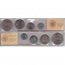 ISLANDIJA 1976 m. 4 monetų rinkinys
