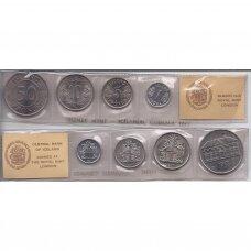 ISLANDIJA 1977 m. 4 monetų rinkinys