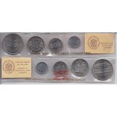 ISLANDIJA 1980 m. 4 monetų rinkinys