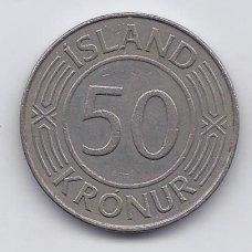 ISLANDIJA 50 KRONUR 1971 KM # 19 VF