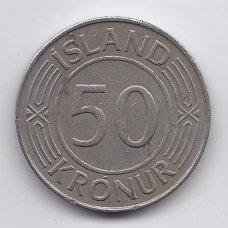 ISLANDIJA 50 KRONUR 1975 KM # 19 VF