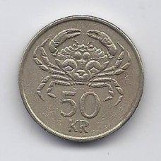 ISLANDIJA 50 KRONUR 1992 KM # 31 VF