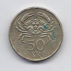 ISLANDIJA 50 KRONUR 2005 KM # 31 VF