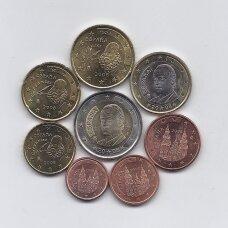 ISPANIJA 2008 m. pilnas euro monetų rinkinys (dalis monetų su dėmėmis)