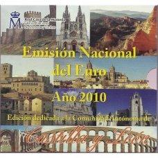 ISPANIJA 2010 m. OFICIALUS EURO MONETŲ RINKINYS SU PROGINE 2 EURŲ MONETA IR MEDALIU (KASTILIJA IR LEONAS)