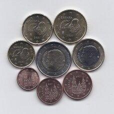 ISPANIJA 2021 m. pilnas euro monetų rinkinys