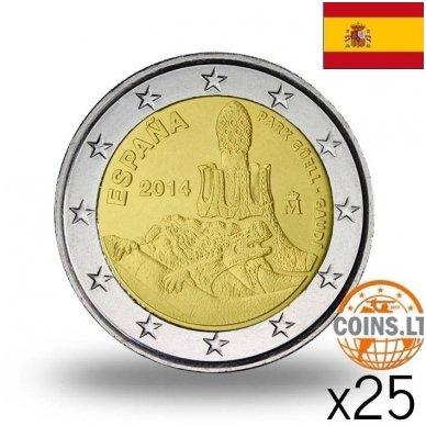 ISPANIJA 2 EURAI 2014 GAUDI PARKAS RITINĖLIS (25 vnt.)