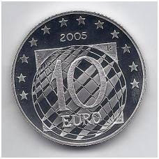 ITALIJA 10 EURO 2005 KM # 271 PROOF