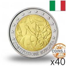 ITALIJA 2 EURAI 2005 KONSTITUCIJA RITINĖLIS ( 40 vnt.)