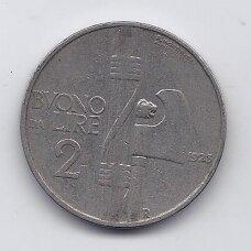 ITALIJA 2 LIRE 1923 KM # 63 VF