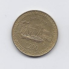 ITALIJA 200 LIRE 1989 KM # 130 VF