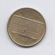 ITALIJA 200 LIRE 1990 KM # 135 VF