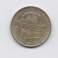 ITALIJA 200 LIRE 1996 KM # 184 VF