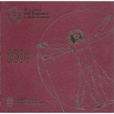 ITALIJA 2008 m. OFICIALUS BANKINIS EURO MONETŲ RINKINYS