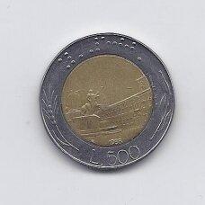 ITALIJA 500 LIRE 1988 KM # 111 VF