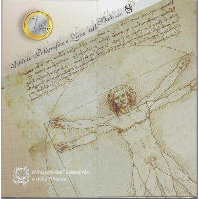 ITALIJA 2003 m. OFICIALUS BANKINIS EURO MONETŲ RINKINYS