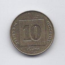 IZRAELIS 10 AGOROT 1985 - 2017 KM # 158 AU