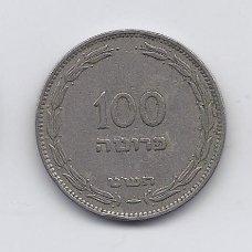 IZRAELIS 100 PRUTA 1949 KM # 14 VF