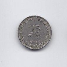 IZRAELIS 25 PRUTA 1949 KM # 12 VF