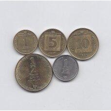 IZRAELIS 5 monetų Chanuka rinkinukas