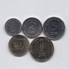 IZRAELIS 5 monetų rinkinukas