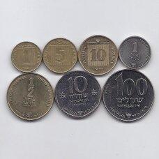 IZRAELIS 7 monetų Chanuka rinkinukas