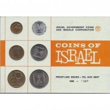 IZRAELIS 1966 m. oficialus bankinis monetų rinkinys