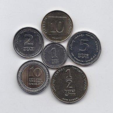 IZRAELIS 6 monetų rinkinukas