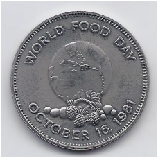 JAMAIKA 1 DOLLAR 1981 KM # 91 UNC FAO