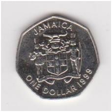 JAMAIKA 1 DOLLAR 1999 KM # 164 VF-XF