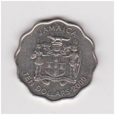 JAMAIKA 10 DOLLARS 2000 KM # 181 VF-XF