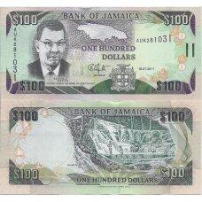 JAMAIKA 100 DOLLARS 2011 P # 84f UNC