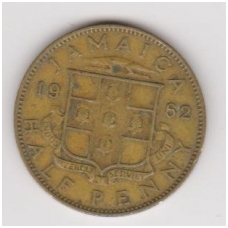 JAMAIKA 1/2 PENNY 1962 KM # 36 VF
