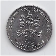 JAMAIKA 20 CENTS 1976 KM # 69 UNC