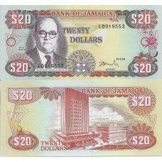 JAMAIKA 20 DOLLARS 1996 P # 72f UNC