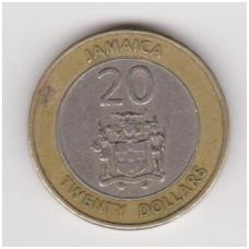 JAMAIKA 20 DOLLARS 2000 KM # 182 VF