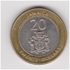 JAMAIKA 20 DOLLARS 2000 KM # 182 XF