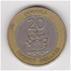 JAMAIKA 20 DOLLARS 2001 KM # 182 VF