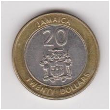JAMAIKA 20 DOLLARS 2001 KM # 182 XF