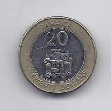 JAMAIKA 20 DOLLARS 2008 KM # new VF