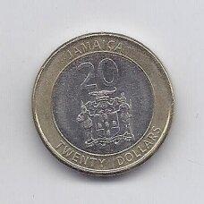 JAMAIKA 20 DOLLARS 2015 KM # new XF