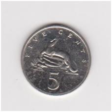 JAMAIKA 5 CENTS 1992 KM # 46a XF